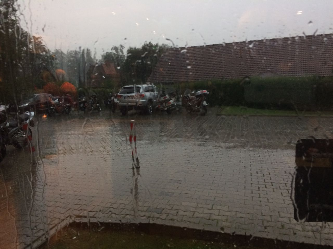 starker Regenschauer
